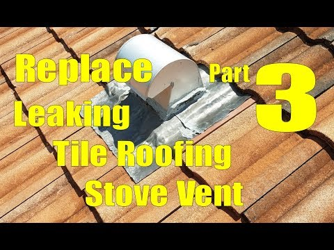 Replace Leaking Tile Roofing Stove Vent 3 - Install Roofing Tile and Vent Skirt