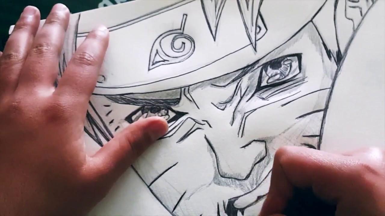 Comment dessiner naruto avec un crayon et un stylo bic - Dessiner naruto ...