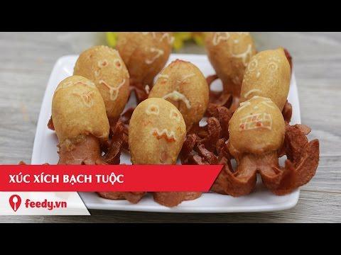 Hướng dẫn cách làm món Xúc xích bạch tuộc cho trẻ - Octopus sausage