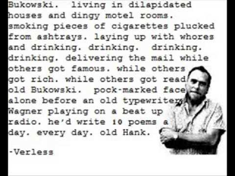 Charles Bukowski on Ezra Pound John Fante and other assorted things
