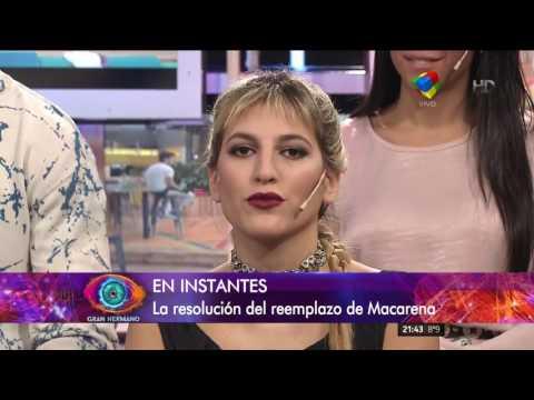 Gran Hermano 2016: Enorme sorpresa por el reemplazo de Macarena