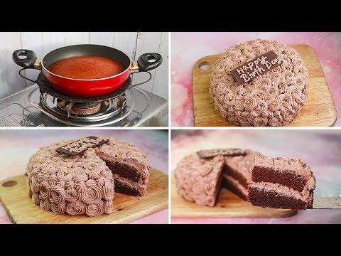 Birthday Cake In Kadai |Eggless & Without Oven | Eggless Chocolate Birthday Cake Recipe | Yummy