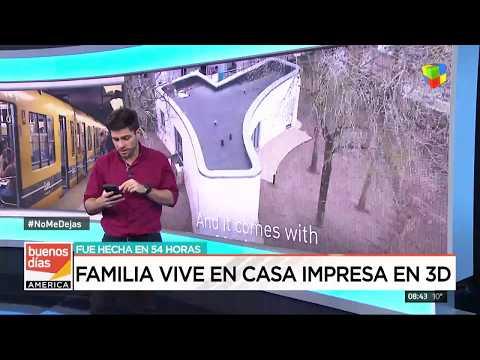 Una familia vive en una casa impresa en 3D