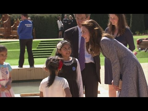 Kate opens Magic Garden at Hampton Court Palace