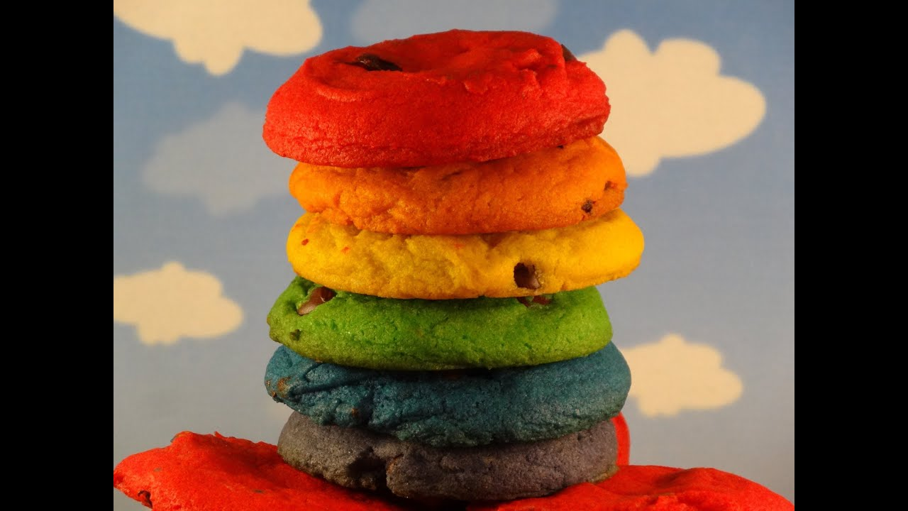 Rainbow Chocolate Chip Cookies- with yoyomax12 (Collab with How To ...