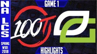 Video 100 vs OPT Highlights | NA LCS Spring 2018 S8 W1D1 | 100 Thieves vs Optic Gaming Highlights download MP3, 3GP, MP4, WEBM, AVI, FLV Juni 2018