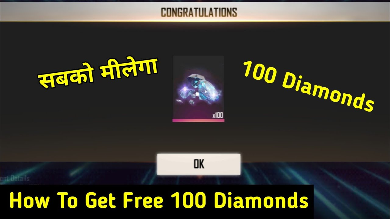 How To Get Free 100 Diamonds In Free Fire 2020 Free Me Diamonds Kese Le Free Fire Rajgaming725 Youtube