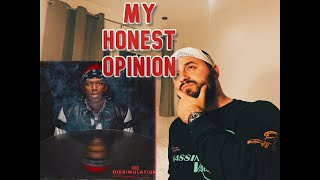 KSI - DISSIMULATION - ALBUM REVIEW - MY HONEST OPINION