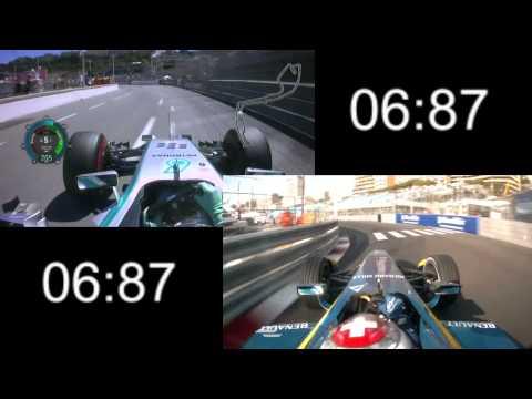 F1 2014 vs Formula E Comparison - Monaco