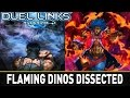Flaming Dinos Dissected! | YuGiOh Duel Links Mobile w/ ShadyPenguinn