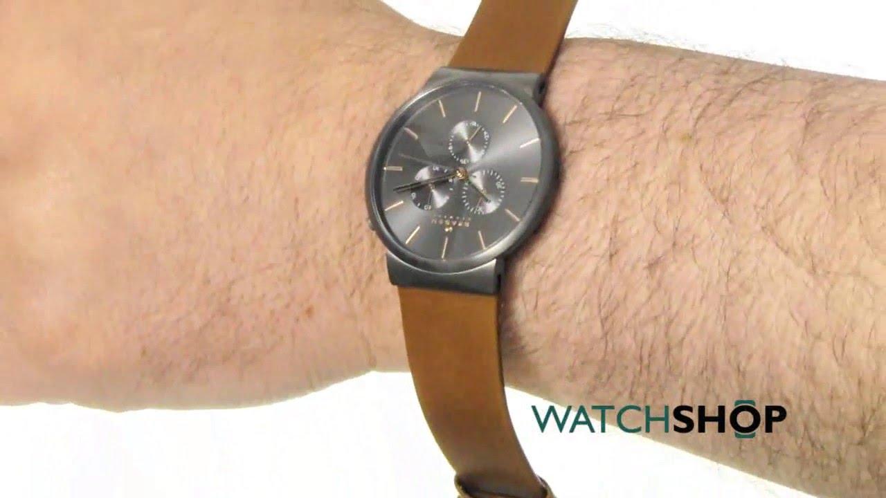 c47d777d9 Skagen Men's Ancher Chronograph Watch (skw6106) - YouTube
