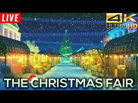 4K 🔴 Lofi Christmas Radio 24/7 🎄 The Christmas Fair 🎄 Chillhop & Lofi Christmas Songs 2020