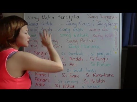 LEARN INDONESIAN LANGUAGE #42 THE 2.0 SI SANG