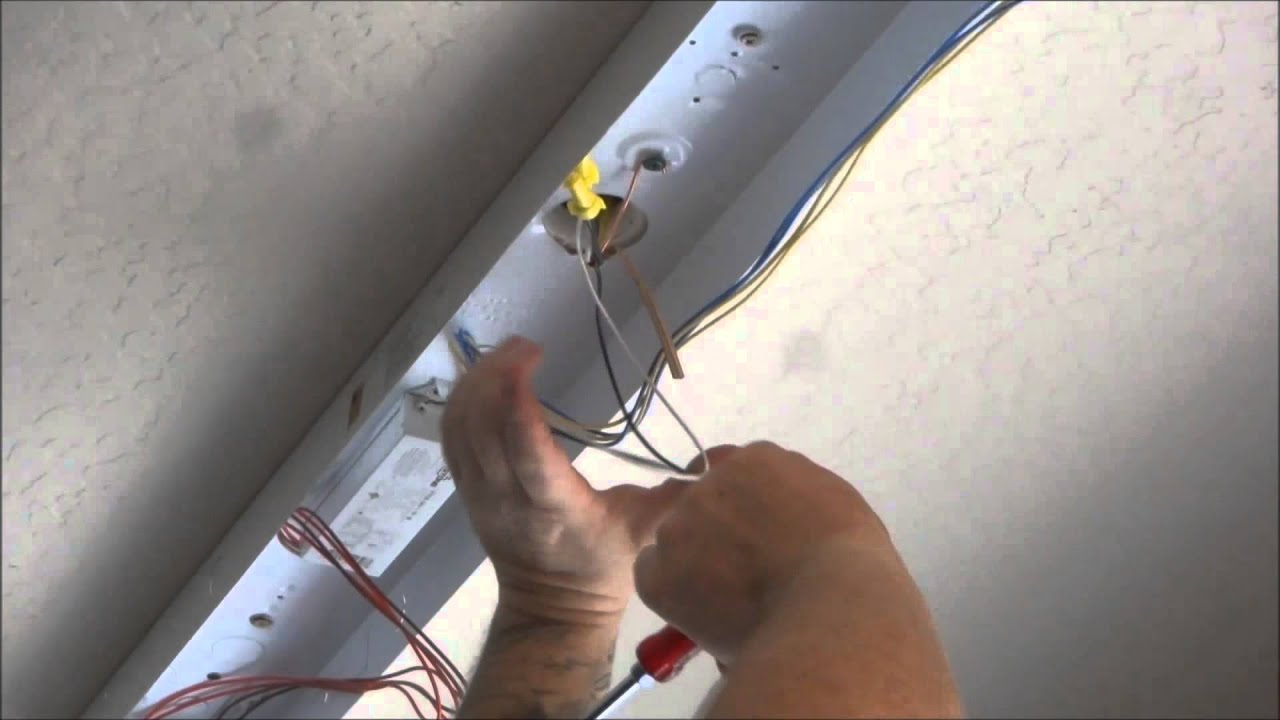 Wiring Fluorescent Lights In Series Detailed Schematics Diagram T8 Light Fixture Installing Garage Shop Youtube Multiple Fixtures