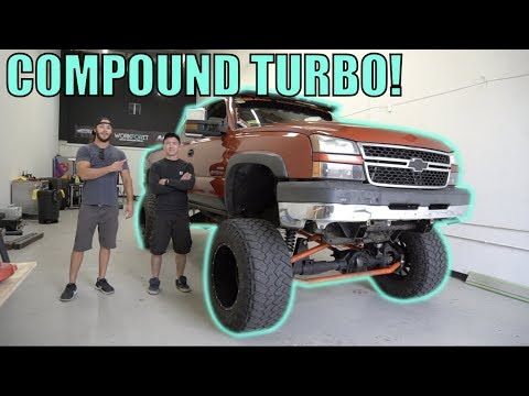 GIANT COMPOUND TURBO SOLID AXLE SWAPPED DURAMAX!