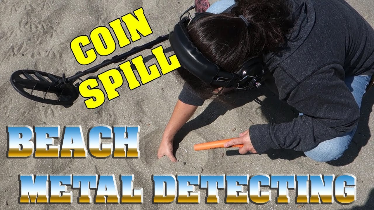 metal detecting coin spill