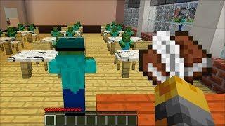 Minecraft ZOMBIE SCHOOL MADNESS / HELP THE ZOMBIE TEACHER !! Minecraft School Monster