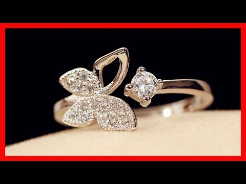 Jewelry Gift | Butterfly Zircon Crystal Open Ring | Wedding Gifts | aliexpress rings