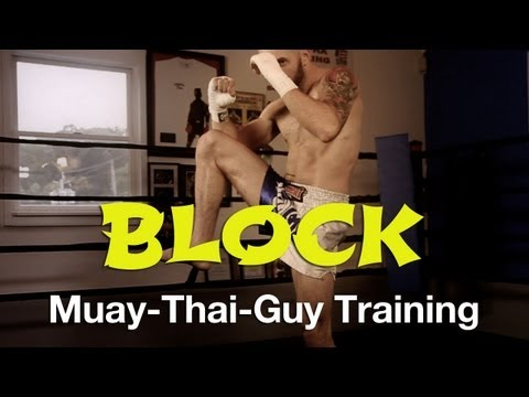 How To Block/Check A Kick Tutorial - Basic Muay Thai Defense Techniques