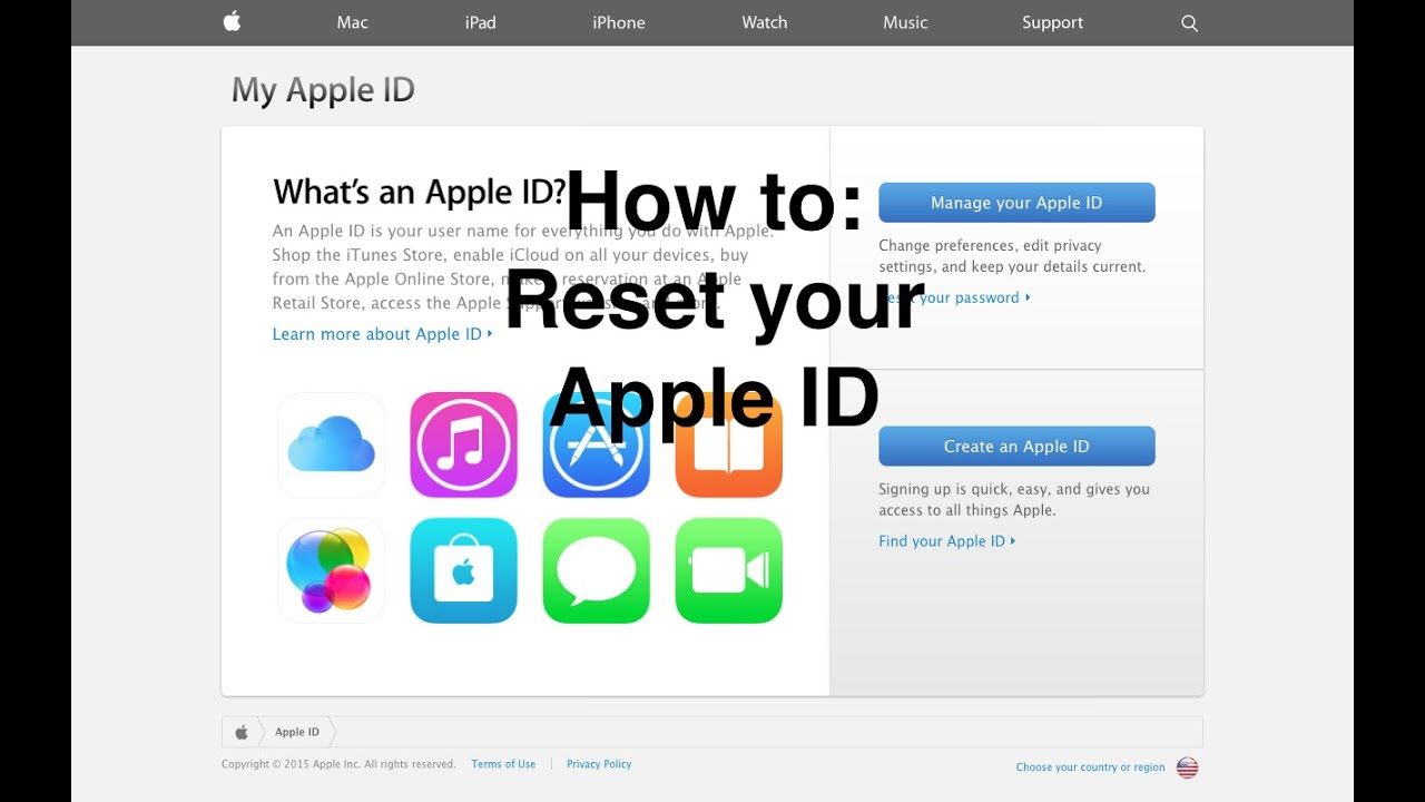 How to: Reset your Apple ID Password