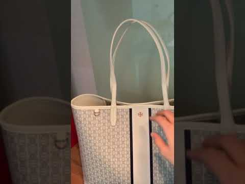 54b171bbfd4 Tory Burch Gemini Link Tote in Ivory - Bag Review - YouTube