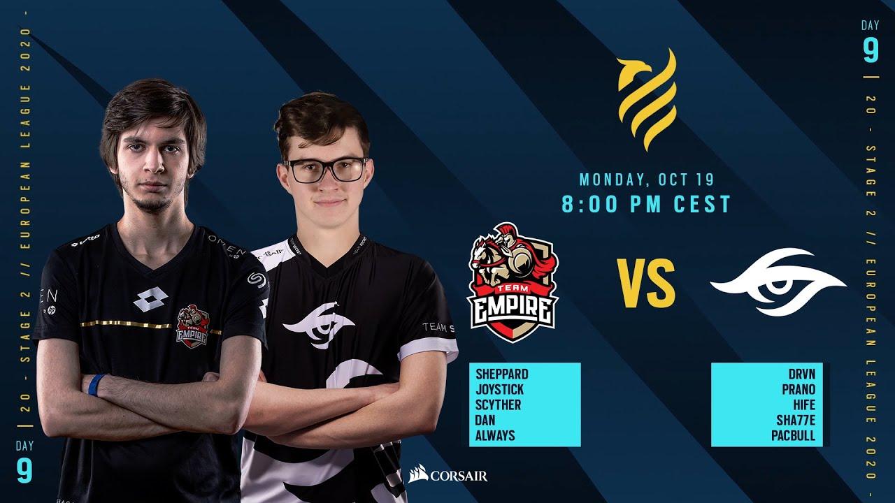 Team Empire vs Team Secret // Rainbow Six European league 2020 - Stage 2 - Playday #9