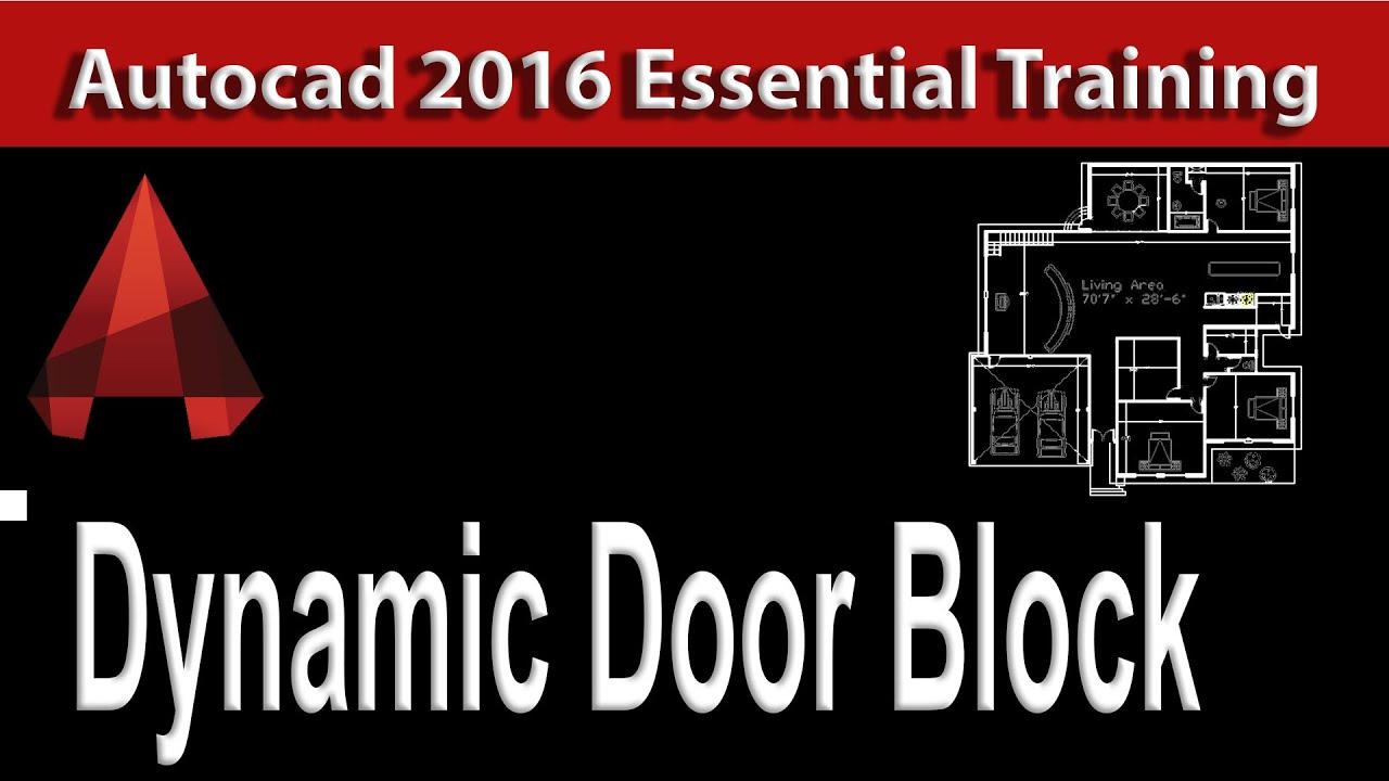Dynamic Door Block AutoCAD Training Tutorial 39  sc 1 st  YouTube & Dynamic Door Block AutoCAD Training Tutorial 39 - YouTube pezcame.com