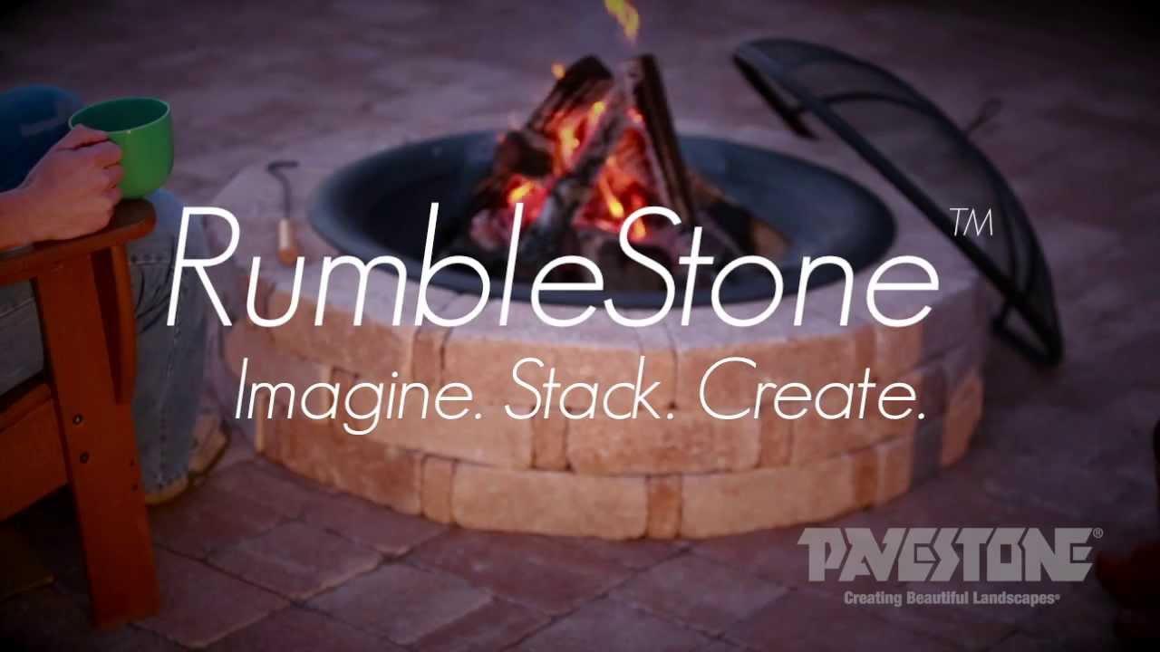 pavestone rumblestone round fire pit youtube