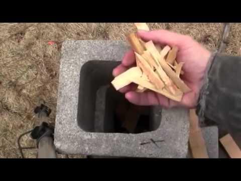Печка из шлакоблоков своими руками
