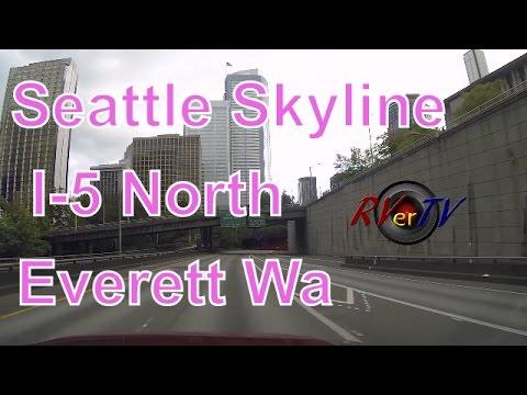 Downtown Seattle Washington....I-5 Northbound....Everett Wa....RVerTV