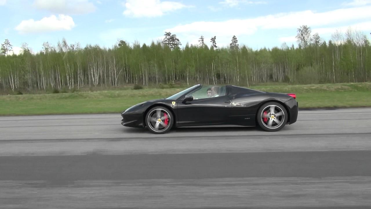 Uncut: Porsche 997 Turbo S vs Ferrari 458 Spider top DOWN ...