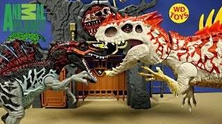 New Animal Planet Dino Adventure Mountain Vs Indominus Rex Rampage Jurassic World Unboxing - WD Toys
