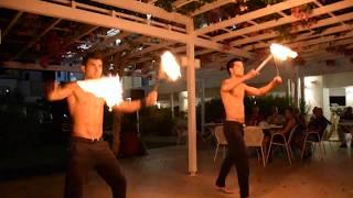 Фаершоу в отеле Nissi Park 3* Кипр,Айя-Напа / Fire Show in hotel Nissi Park 3* Cyprus Ayia Napa