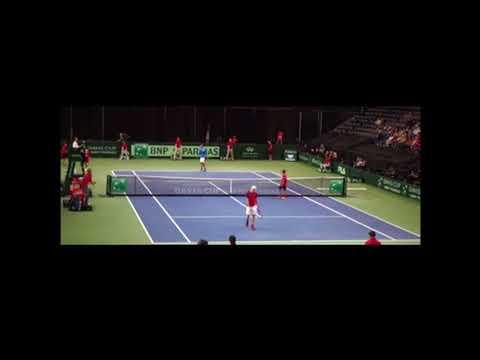 Yuki Bhambri slips vs Shapovalov   Davis Cup 2017