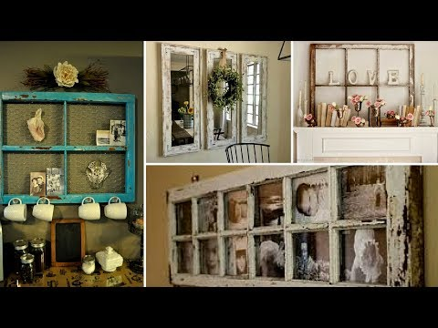 💗26 DIY Creative Ways To Reuse/Re-purposed Old Windows - How To Decor Vintage Room Ideas  2017💗