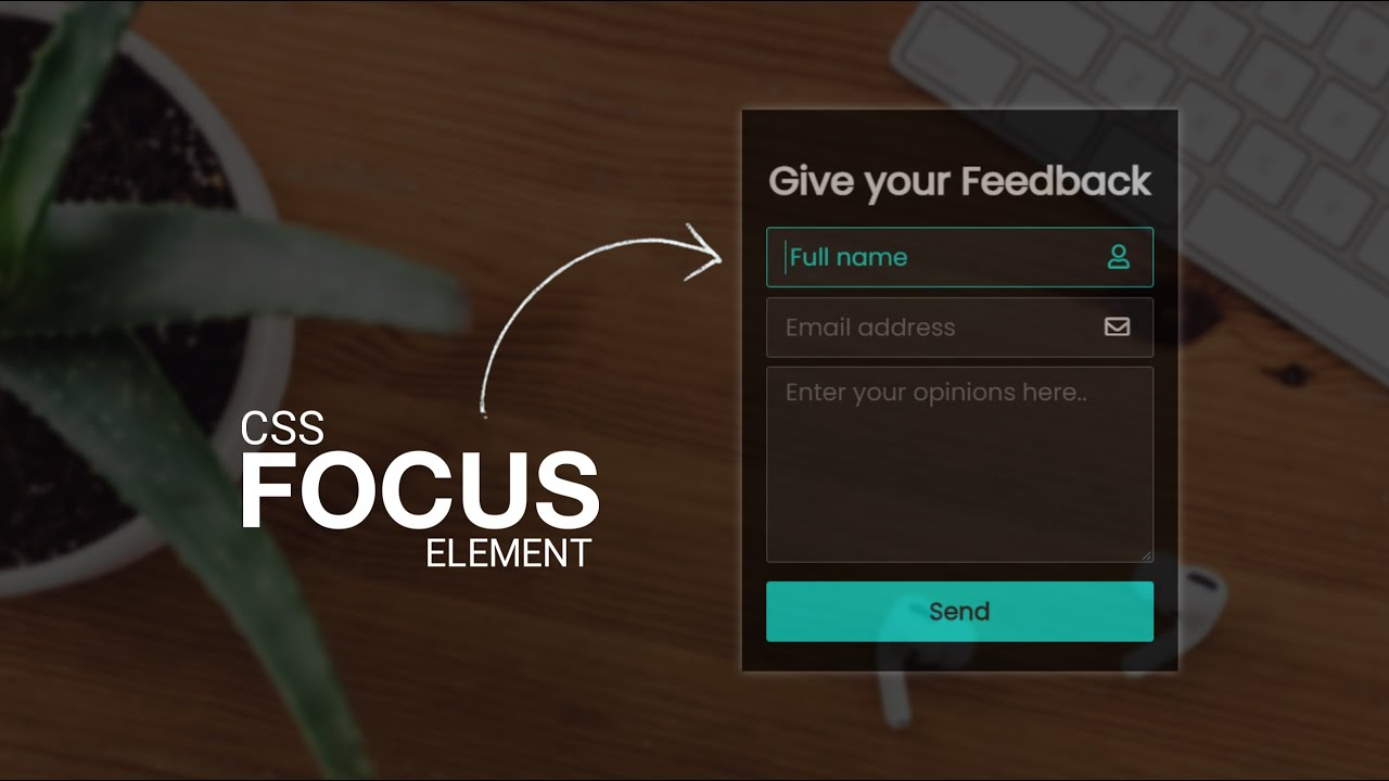 Feedback Form Design in HTML & CSS | CSS Focus Element