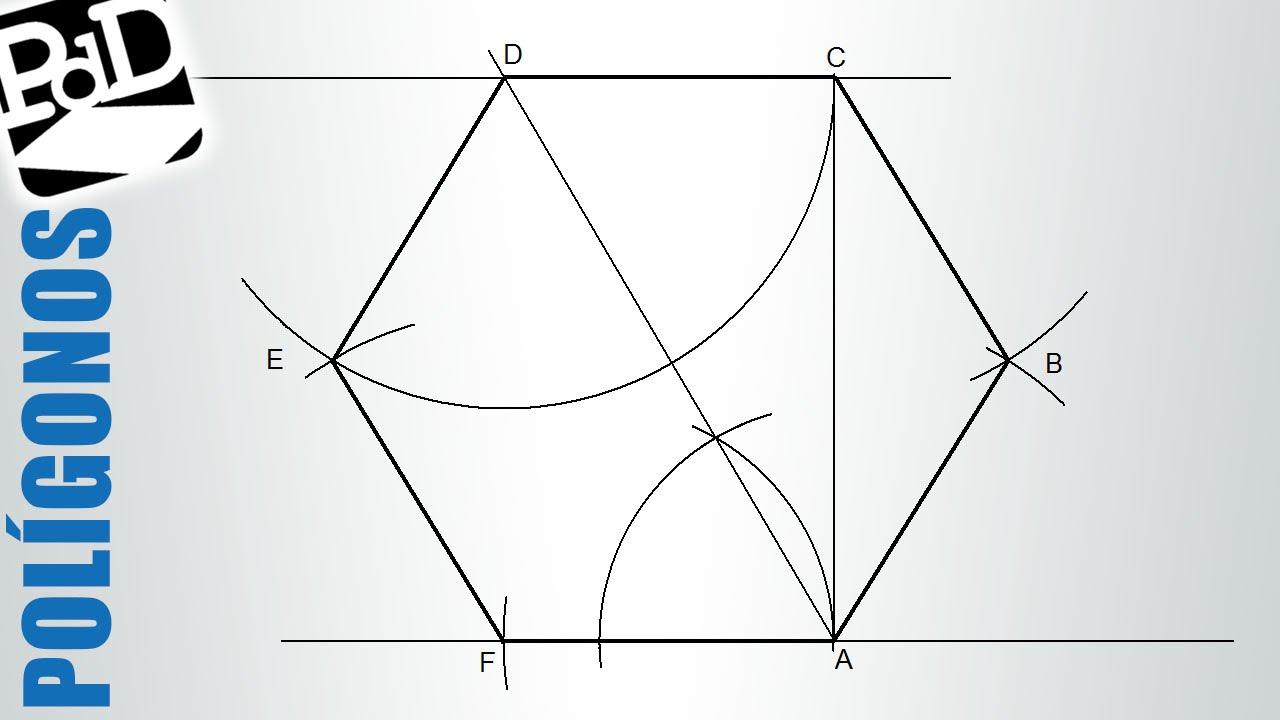 Trazar Un Hexágono Conociendo La Distancia Entre Lados Opuestos Polígonos