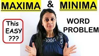 MAXIMA AND MINIMA WORD PROBLEMS || APPLICATION OF DERIVATIVES CLASS XII 12th