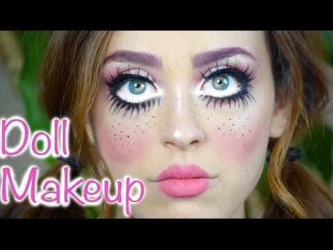 Last Minute Doll Makeup Tutorial | Free Costume