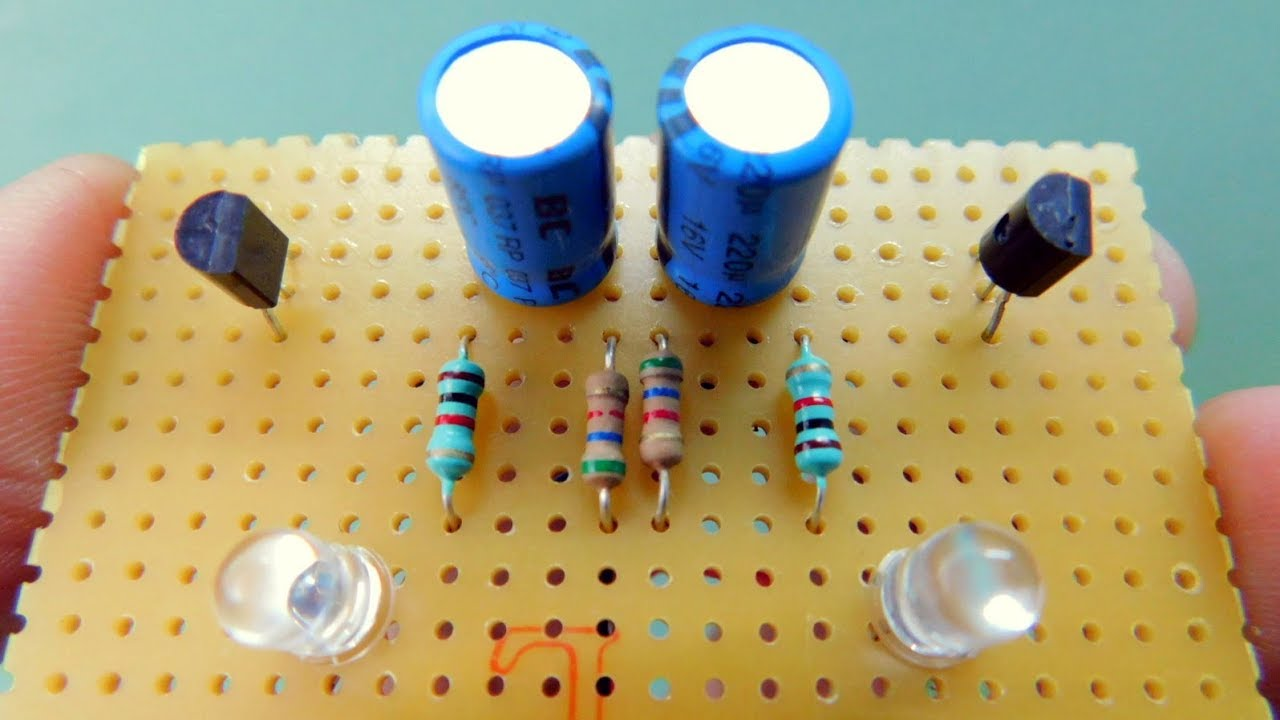 Multivibrator With Led Led Running Circuit Fancy Led Circuit