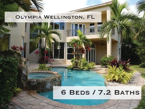 Large Estate Home in Olympia Wellington, FL For Sale with 6 Beds 7 2 Baths 5,677 Under Air