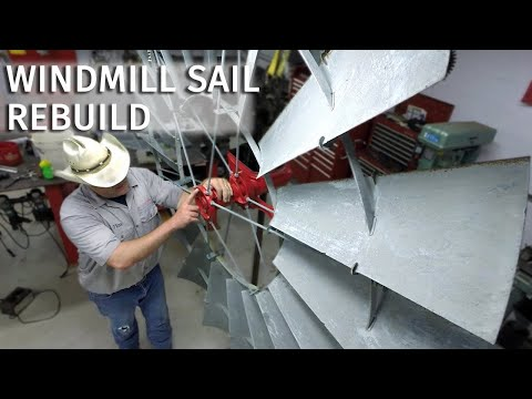 Vintage Aermotor Windmill Restoration Ep 6: Wheel and Sails Rebuild, Refurbishing the Tail Vane Logo