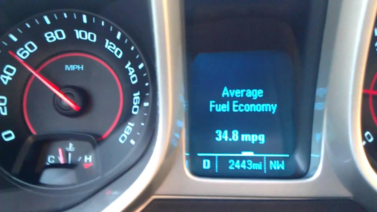 Camaro chevy camaro ss mpg 2012 Camaro 2SS (auto) crusing gas mileage (RCM) - YouTube