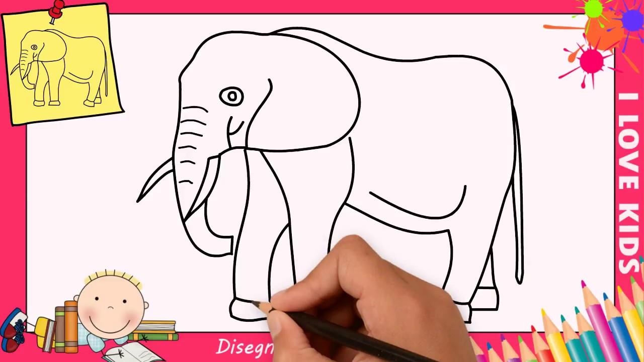 Come Disegnare Un Elefante Facile Passo Per Passo Per Bambini 2
