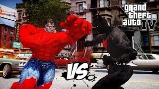 BATMAN BEYOND VS RED HULK - EPIC BATTLE - GTA IV