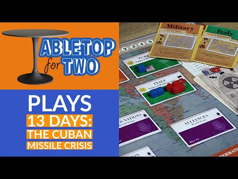 Tabletop for Two Plays - 13 Days: The Cuban Missile Crisis
