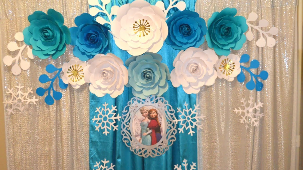 Frozen Party Theme Diy Frozen Birthday Party Decorations Birthday Decoration Ideas Youtube