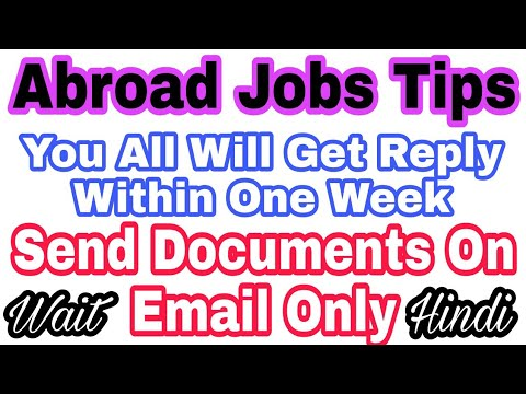 Overseas Vacancy Tips With Best Agency, Send Your Documents On Email ID, All Get Reply Within 1 Week