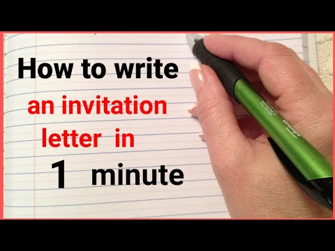 how to write an invitation letter in english    letter  english master