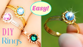 The 'Lazy Ring' Tutorial - EASY DIY Rings Anyone Can Make In Seconds! ..or Minutes ;)